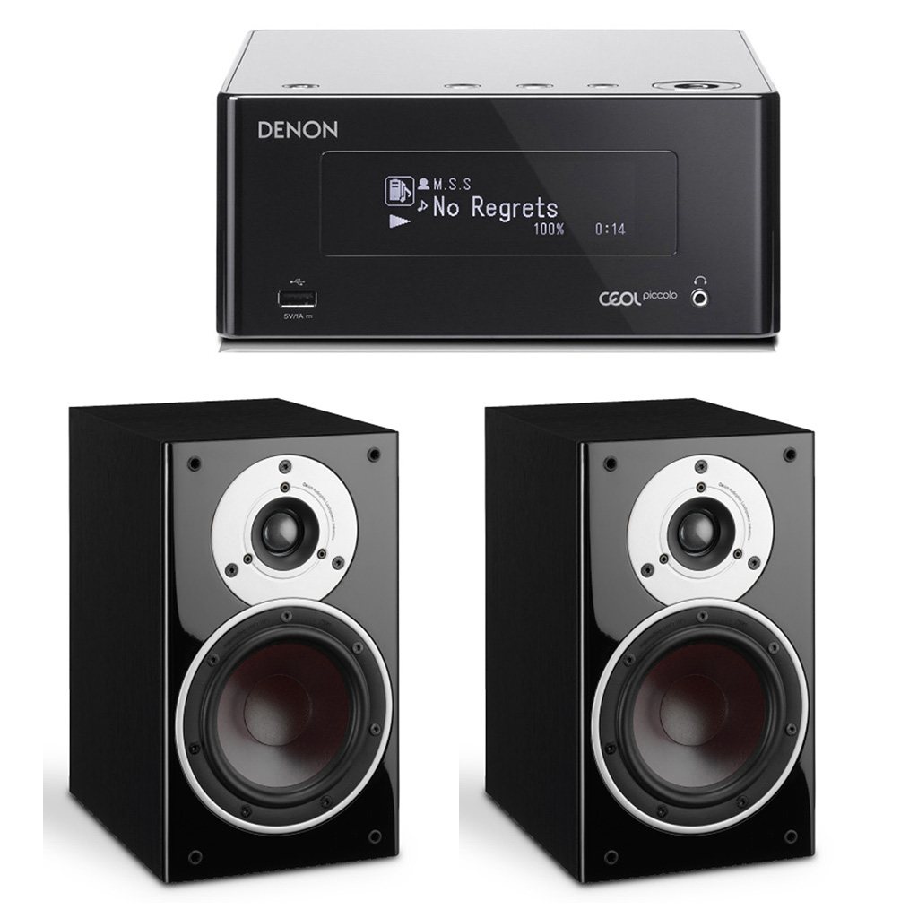 Сетевой ресивер с Wi-Fi/AirPlay/Bluetooth: Denon CEOL Piccolo DRA-N4 Black+ DALI  Zensor 1