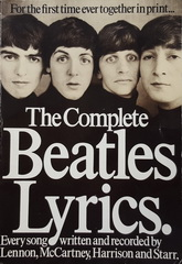 Книжное издание - каталог: THE BEATLES: THE COMPLETE LYRICKS. [Softcover]. Used, VG+ condition.