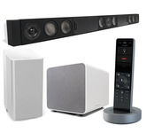 Комплект акустики WiSA 5.1 + пульт ДУ: SAVANT Smart Audio 5.1 with X2 Remote (WHITE) (PKG-SA1RMW-00)