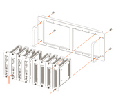 Крепеж: SAVANT 5U RACK MOUNT SHELF FOR UP TO 8 SINGLE  UNITS (RCK-PAVVM8) до 8 юнитов (PAV-VIM1C)
